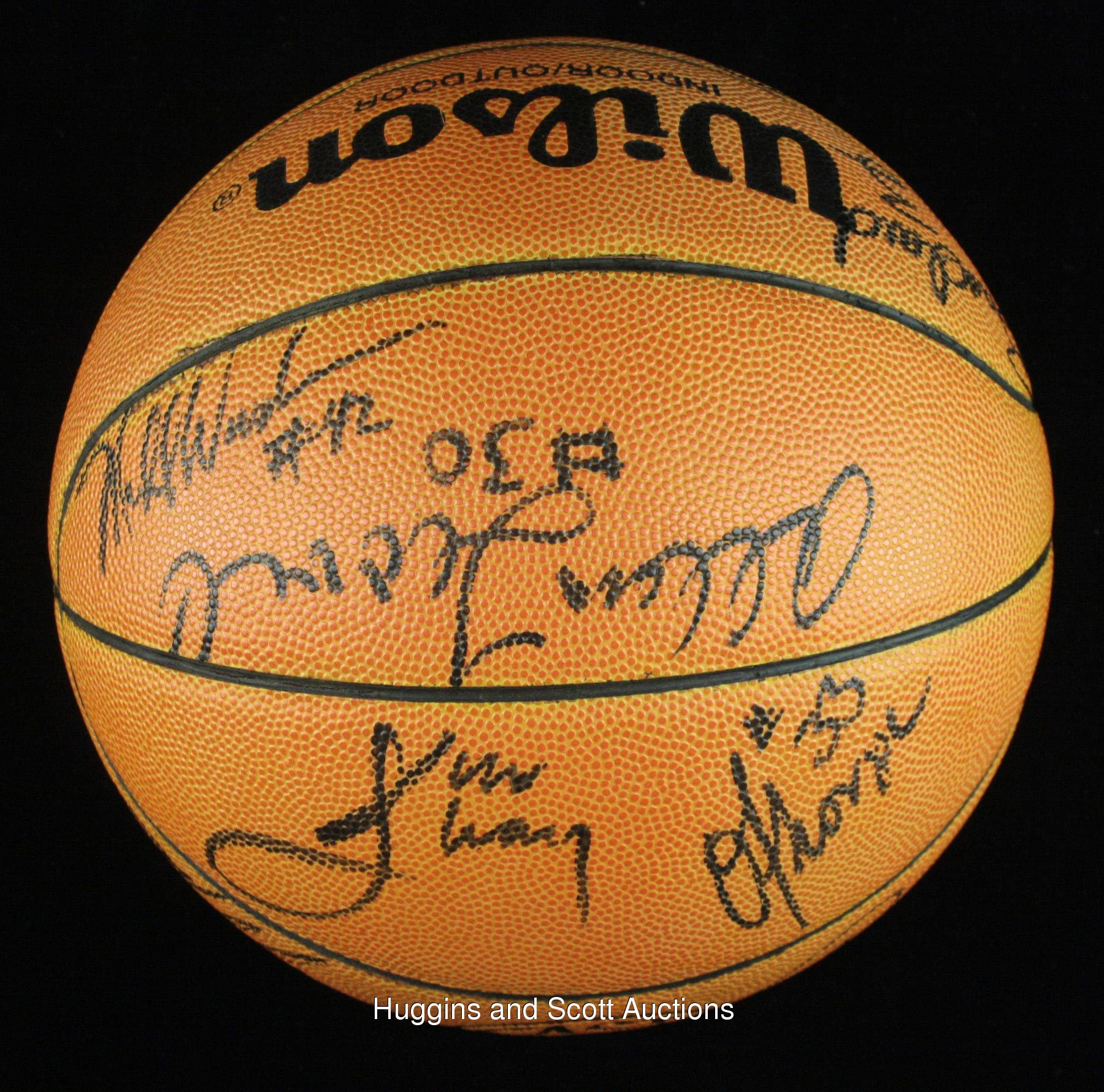 Houston Rockets Defensive Coach: 1988-89 Houston Rockets Team-Signed Basketball With